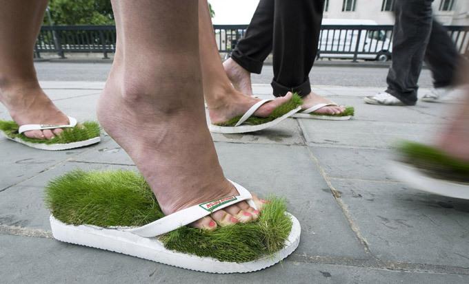 Травянистые сандалии. Обувных дел оригиналы