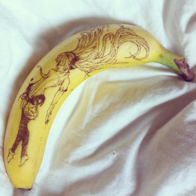 """Банановая """"живопись"""""""