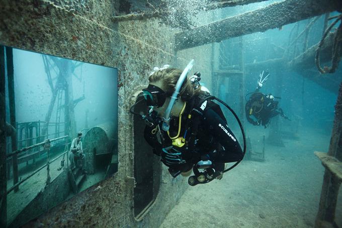 Подводная выставка на затонувшем судне