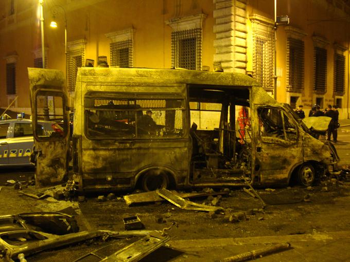 Массовые погромы в Риме: более 100 пострадавших