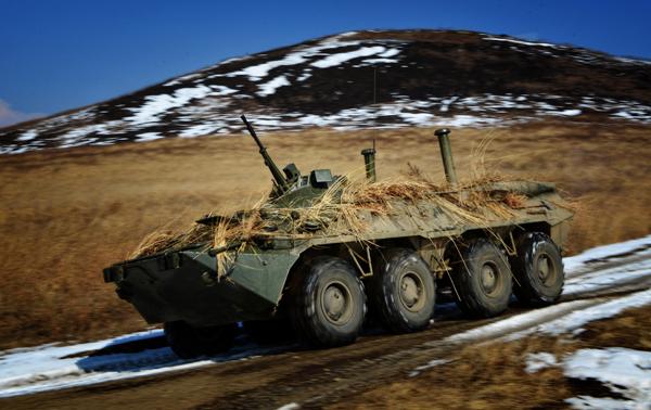 Тактические учения морской пехоты ТОФ в Приморье