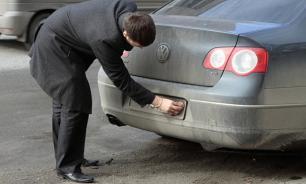 ГИБДД может лишать прав водителей с нечитаемыми номерами