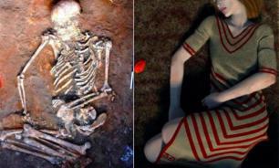 На Украине обнаружили скелет женщины с загадочными черными отметинами