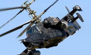 """В воздухе ударный вертолет - КА-50. """"Черная акула"""""""