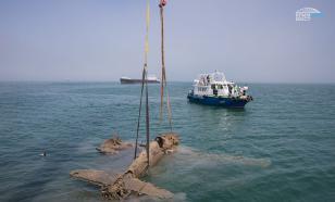 Самолет времен ВОВ подняли со дна пролива строители Крымского моста