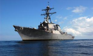 Американский эсминец приблизился к нашему сторожевику
