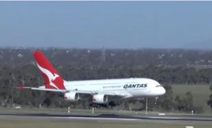 Опубликовано видео посадок пассажирских лайнеров в ураганный ветер