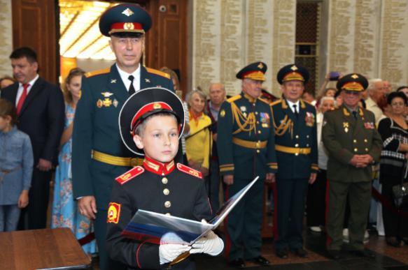 Суворовцы принесли присягу на Поклонной горе