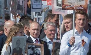 Мы никого не пугаем, мы чествуем победителей - Путин