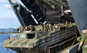 Большой десантный корабль «Пересвет». Высадка морского десанта