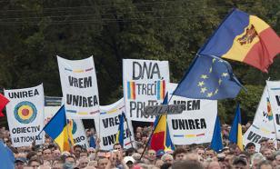 """Центр Кишинева пикетируют тысячи сторонников лидера """"Нашей Партии"""""""