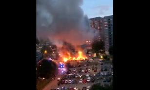Ночь огня: люди в черном сожгли в Швеции сотни автомобилей ВИДЕО