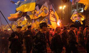 В центре Киева собрались почти две тысячи националистов. Они пройдут маршем