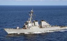 """Эсминец США с """"Томагавками"""" встал напротив базы РФ в Тартусе"""