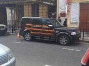 Неизвестные нарисовали георгиевскую ленту на машине генконсула Польши в Иркутске