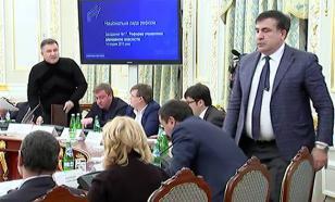 Опубликовано видео конфликта Авакова и Саакашвили
