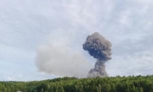 На территории воинской части под Красноярском прогремела серия взрывов