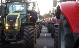 Итальянские фермеры протестуют против антироссийских санкций