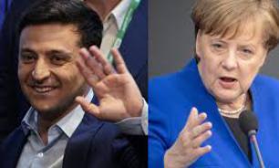 Зеленский обсудил по телефону с Меркель Минские соглашения