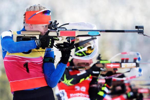 Сборная России финишировала четвертой в первой гонке чемпионата мира по биатлону