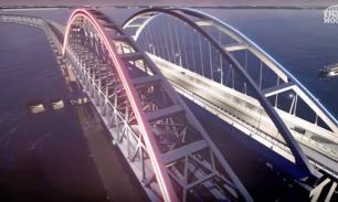 Мост в Крым будет светиться цветами российского флага