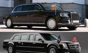 Померялись авто? Как отозвались СМИ о машинах Путина и Трампа