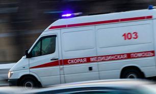 """""""Скорая помощь"""" столкнулась в легковым автомобилем в Москве"""