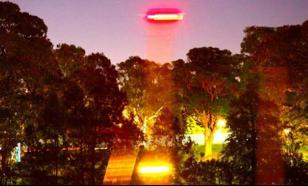 """Еще одно видео НЛО. Или """"черная сфера"""" впервые на видео"""