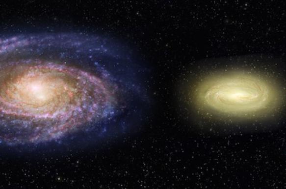 """Телескоп """"Хаббл"""" обнаружил первую дисковую """"мертвую"""" галактику."""