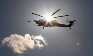 Авария в Екатеринбурге: Вертолет не смог взлететь и завалился на бок