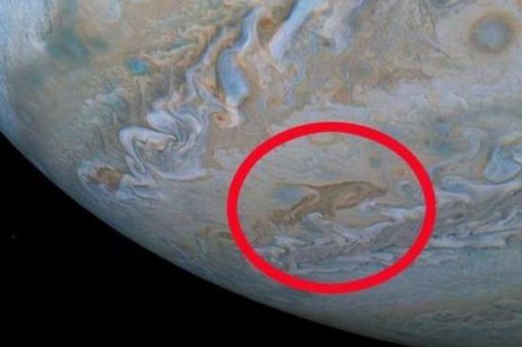 Спутник увидел на Юпитере дельфина