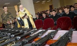 Представитель РПЦ: оружие массового поражения освящать нельзя