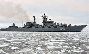 Ракетный крейсер ''Маршал Устинов'' вошел в Средиземное море
