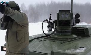 """Испытания боевого робота """"Маркер"""" начались в РФ"""