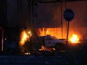 Сербы спалили пограничный КПП в Косове