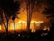 Третий за четыре года пожар начался в поселке под Рязанью, сгоревшем дотла в 2010 году