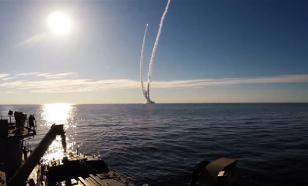 "Опубликовано видео массового подводного залпа ракет ""Булава"""