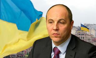 Парубий учится остроумию у Яценюка, анализируя роль России в беспорядках на Украине 9 мая 2016 года