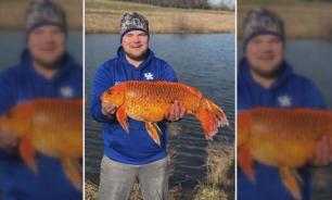 Американец поймал золотую рыбку весом 10 килограммов