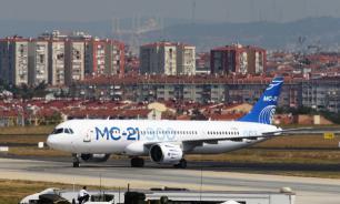 Самолет МС-21 совершил первый международный полет