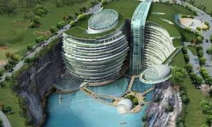 Заброшенный каменный карьер в Китае превратили в отель