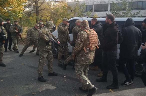В Луганской области радикалы подрались с полицией