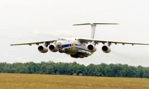 """Лайнер """"Ил-76"""" внезапно столкнулся с землей"""