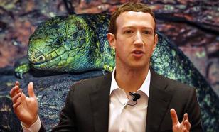 Цукерберг занервничал, опровергая свою принадлежность к рептилоидам