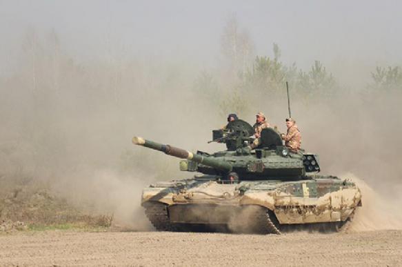 На танковые соревнования Украина приехала на тракторе