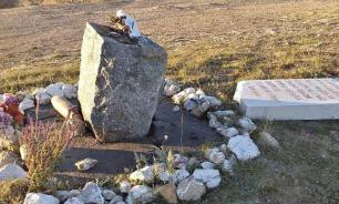 В Крыму вандалы свалили памятник партизанам Великой Отечественной войны