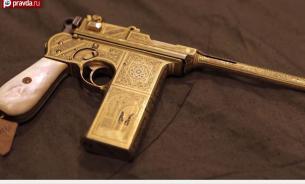 """Уникальный наградной пистолет """"Астра 902es"""", 7,63-мм - золотой подарок Сталина"""
