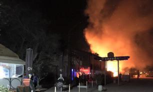 В Одессе политические активисты сожгли ночное кафе. Фото