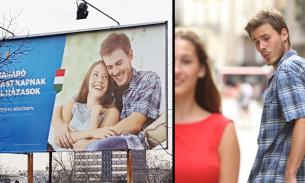 """""""Неверный парень"""" попал на венгерские билборды с рекламой повышения рождаемости"""
