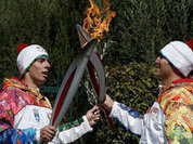 Олимпийский факел нерукопожатности